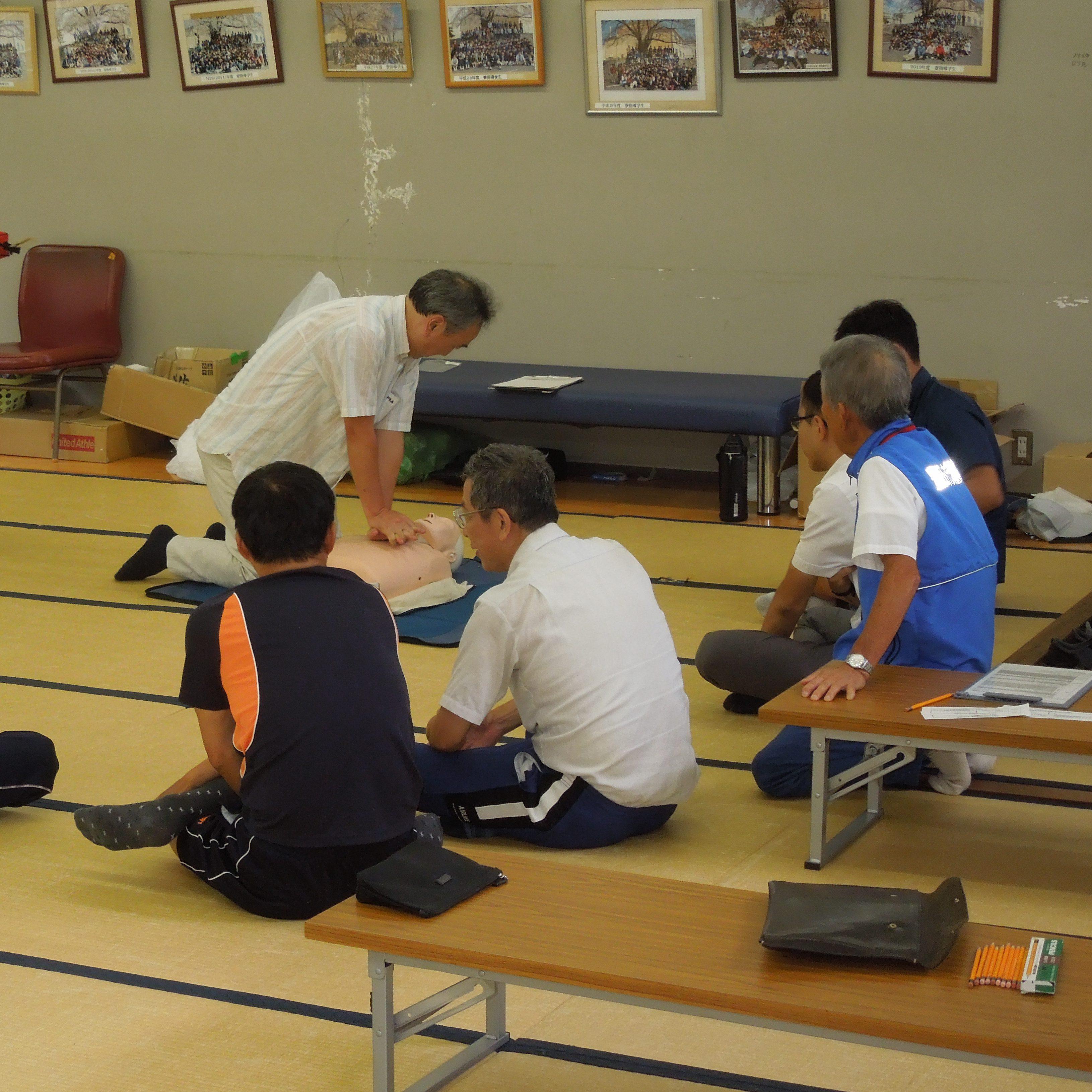 教職員対象の応急処置講習会を開催